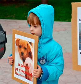 Пикет зооэкстремистов в Москве